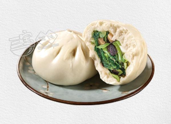 三宝香菇青菜包子