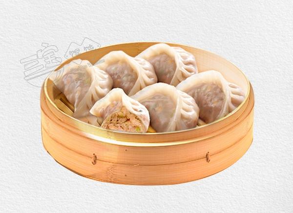 美味大蒸饺白菜熟肉